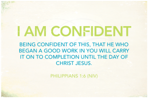 i am confident