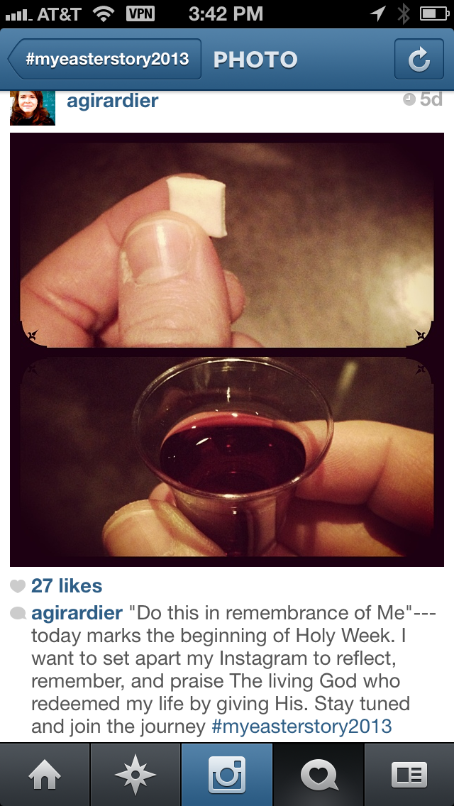 girlsminister.com is hosting a social media retelling of Holy Week done by @amyjogirardier.